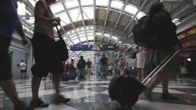 机场繁忙的国际 股票录像