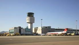机场肋前缘Smeralda在奥尔比亚 撒丁岛 意大利 库存照片