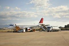 机场肋前缘Smeralda在奥尔比亚 撒丁岛 意大利 图库摄影
