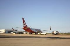 机场肋前缘Smeralda在奥尔比亚 撒丁岛 意大利 库存图片