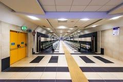 机场自动扶梯传动机,巴里,意大利 图库摄影