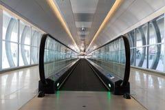 机场自动扶梯 免版税库存照片