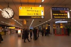 机场荷兰schiphol 库存照片