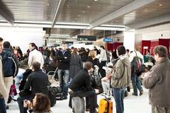 机场被取消的闭合的飞行 免版税图库摄影