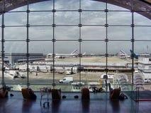 机场视窗 免版税图库摄影