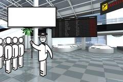 机场赌金保管人罢工 库存例证