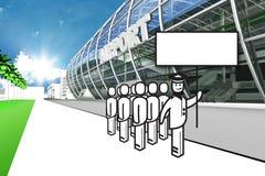 机场赌金保管人罢工 库存照片