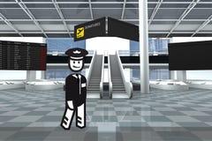 机场赌金保管人 库存照片