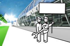 机场赌金保管人 向量例证