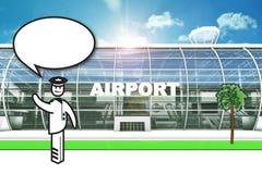 机场赌金保管人 免版税库存照片