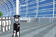 机场赌金保管人 图库摄影