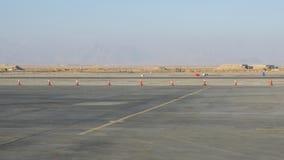 机场跑道在沙漠 股票视频