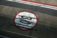 机场跑道标志 库存图片