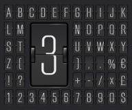 机场轻碰飞行离开或到来信息陈列的委员会字母表 也corel凹道例证向量 库存例证