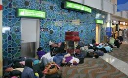 机场迪拜清真寺s妇女 库存图片