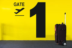 机场门标志 图库摄影