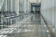 机场,候诊室,旅客区域 免版税图库摄影