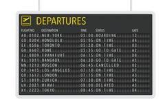 机场离开桌 库存例证