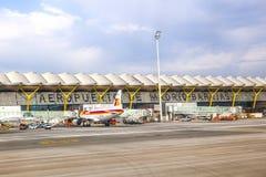 机场巴拉哈斯在马德里 免版税库存图片