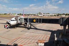机场alegre巴西执行重创的波尔图里约sul 免版税库存照片