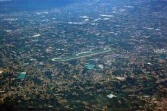 机场arial维罗纳视图 库存照片
