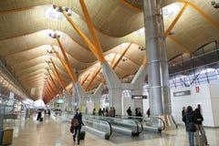机场barajas马德里t4 库存图片