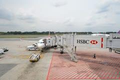 机场changi新加坡 免版税图库摄影