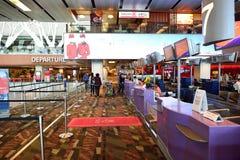 机场changi新加坡 免版税库存照片