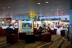 机场changi电视 库存照片