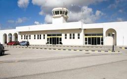 机场cyclades希腊希腊海岛芦粟 免版税库存照片