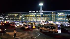 机场domodedovo莫斯科有偿的停车 免版税库存图片