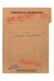 机密文件秘密顶层 图库摄影