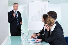 机构内部的企业训练 免版税库存照片