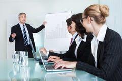 机构内部的企业训练 图库摄影