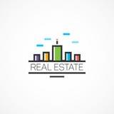 机构房地产、房子和云彩 免版税库存图片