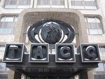 机构莫斯科新闻tass冬天 库存照片