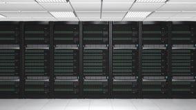机架服务器系统的使成环的动画 股票录像