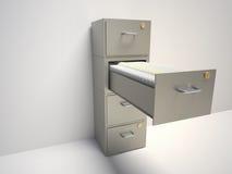 机柜文件 图库摄影