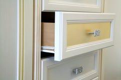 机柜现代白色 库存照片