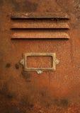 机柜路径生锈的w 免版税库存照片