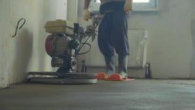 机械化的水泥冗长的句子具体地板特写镜头慢动作 影视素材