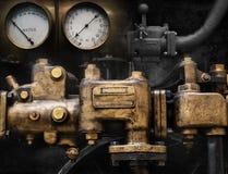 机械和Steampunk难看的东西背景拼贴画 免版税库存照片