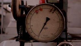 机械在家具工厂的压力表 影视素材