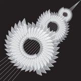机械抽象背景 齿轮的风格化图象 库存例证