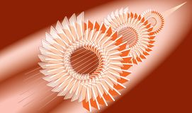 机械抽象背景 齿轮的风格化图象 向量例证