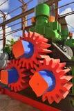 机械新闻 得到的汁液机器从甘蔗磨房 免版税图库摄影