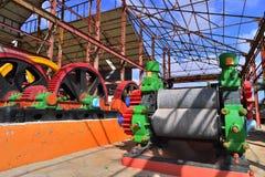 机械新闻 得到的汁液机器从甘蔗磨房 库存图片