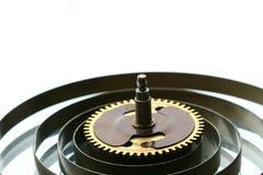机械时钟的齿轮 免版税库存照片
