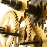 机械时钟的齿轮 免版税库存图片