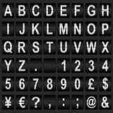 机械显示字体 免版税库存图片